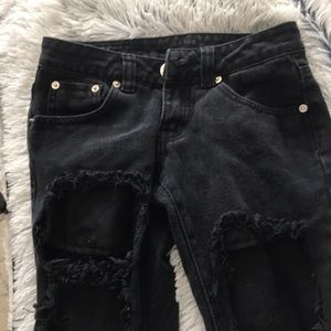 Nordstrom Pants - ripped black jeans